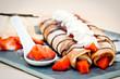 Crêpes fourrées - fraise chocolat