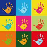 Fototapety popart handprint