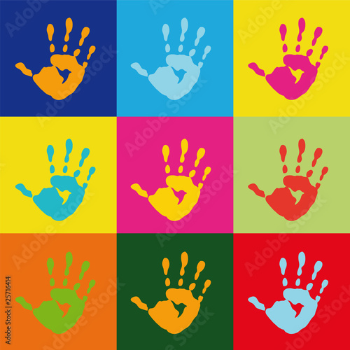 popart handprint