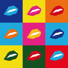 pop art lippen