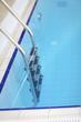 Railing at swimming pool