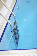 Railing at swimming pool