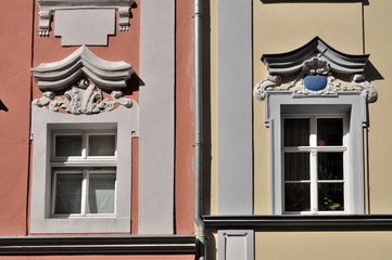 bautzen, finestre nel centro storico