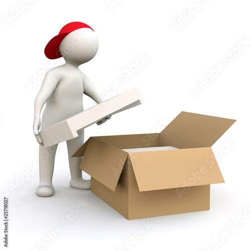 3D Man packing