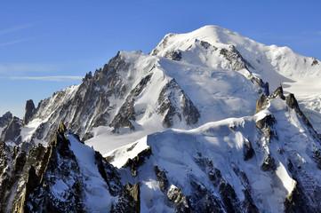 Aiguille du Plan,du Midi et Mont-Blanc