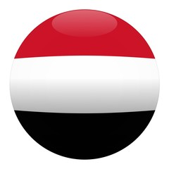 boule yemen ball drapeau flag