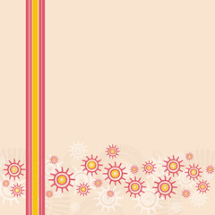 Striped Flowers background