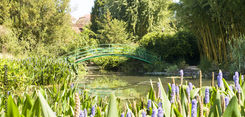 Poster Water planten Monets Garden and Lily Pond,Giverny France