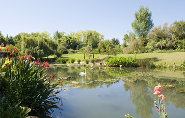 Monets Garden and Lily Pond,Giverny France