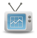 Cartoon-style TV Icon