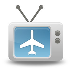 "Cartoon-style TV Icon ""Air Travel"""