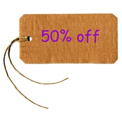 discount 50 % off label tag