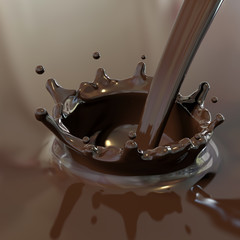Cioccolata calda versata