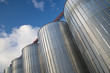 Storage silo array for wood pellets