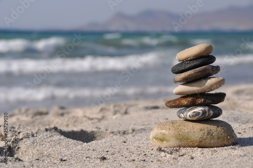 canvas print picture Pebble stack