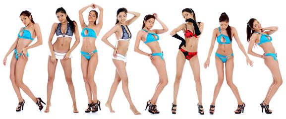 young beautiful women in underwear