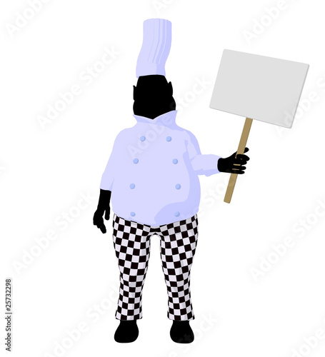 Chef Menu Art Illustration Silhouette