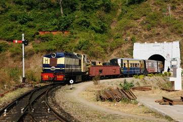 Toy train in India in to Shimla