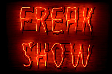 Freak Show neon sign