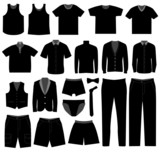 Men Man Male Apparel Shirt Cloth Wear poster