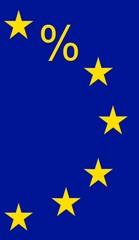 % prozent zeichen europa flagge