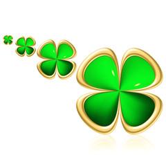 Glücks Logo vierblättriges Kleeblatt
