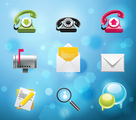 Typical mobile phone apps icons. EPS 10 version. Part 1