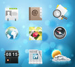 Typical mobile phone apps icons. EPS 10 version. Part 3