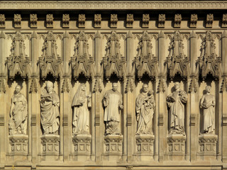 Frieze of martyrs Westminster Abbey