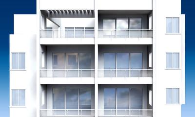 Apartment building front