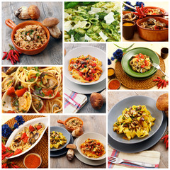 pasta italiana collage