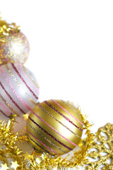 Christmas decoration, golden theme