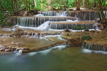 Huay Mae Khamin Waterfall Sixth Level,  Thailand