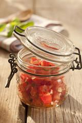 Tomaten-Salsa im Weckglas