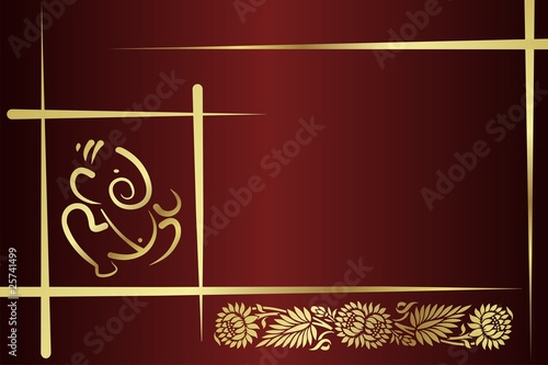 Hindu Wedding Invitation Card Background Design