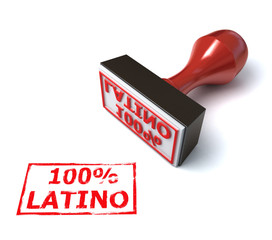 hundred percent Latino 3d stamp