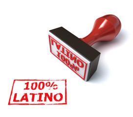 hundred percent Latino 3d stamp