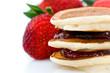 Pancakes à la confitures de fraise
