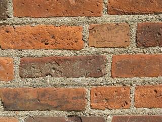 Backsteinwand - Ziegelsteine