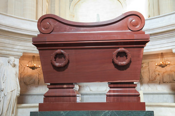 Napoleon Bonaparte's  tomb inside Les Invalides, Paris