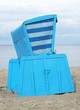 Strandkorb blau Sand - Beach Chair blue
