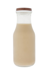 bottle of iced coffee isolated on a pure white background