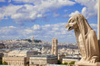 Notre Dame: Chimera overlooking the skyline of Paris