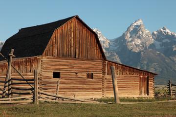 Barn Against The Tetons