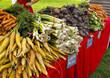 Display of organic vegetables at Farmers Market