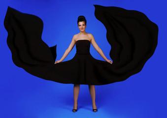 Pretty women in black dress