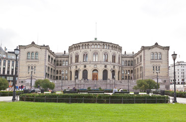 Stortinget (Parliament) in central Oslo