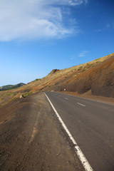 Road to national park El Teide, Tenerife Island, Canary.