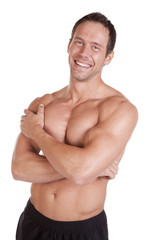 Man with muscles arms crossed