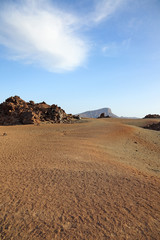 Desert landscape of El Teide national park, Canary Island.